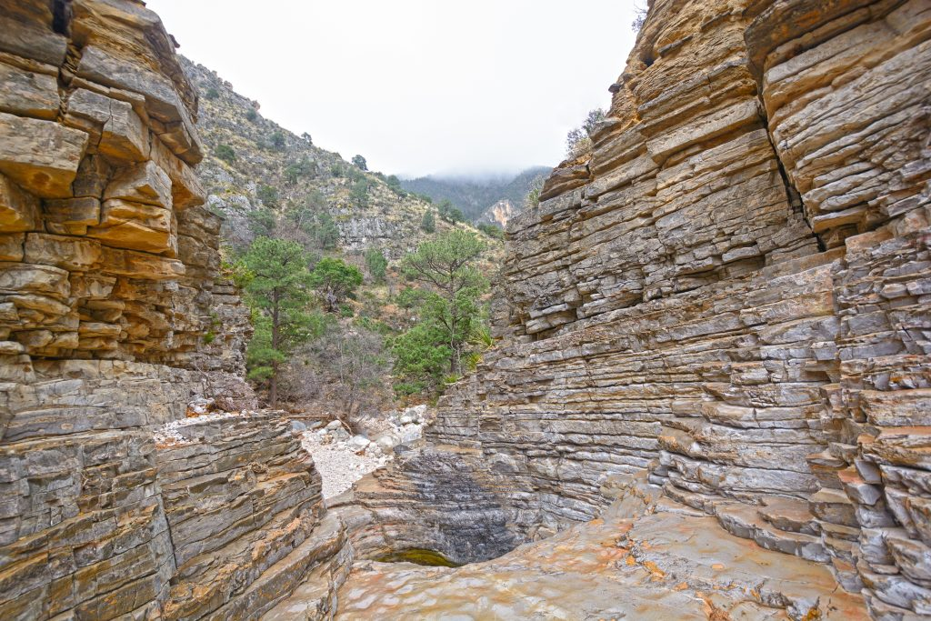 close up of devils hall, one of the best guadalupe mountains national park hiking trails tx