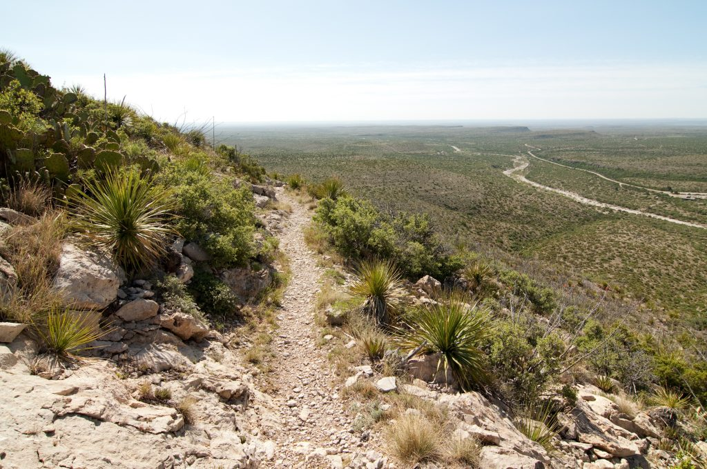 views along permian reef hike guadalupe mountains texas