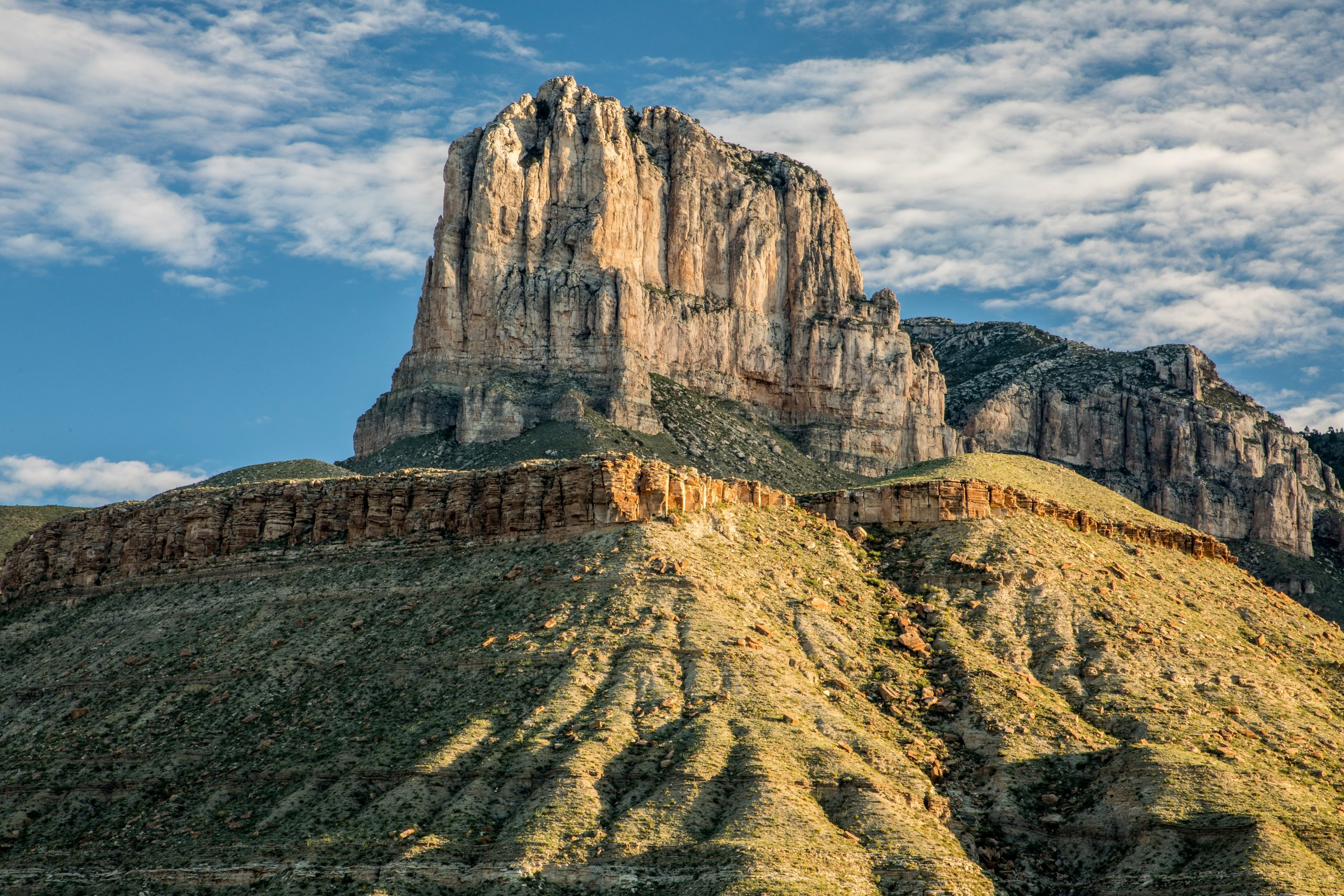 view of el capitan as seen along one of the best hikes in guadalupe mountains national park texas