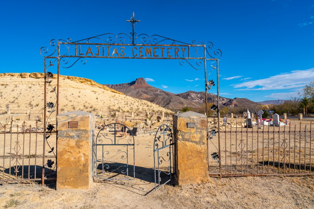 entrance to historic cemetery, places to visit in lajitas tx