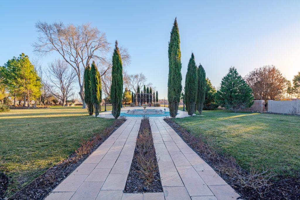 european style garden in marathon texas