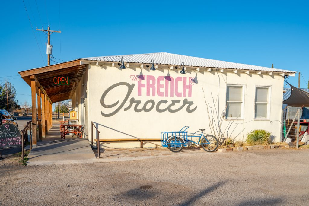 exterior of the french grocery in marathon tx