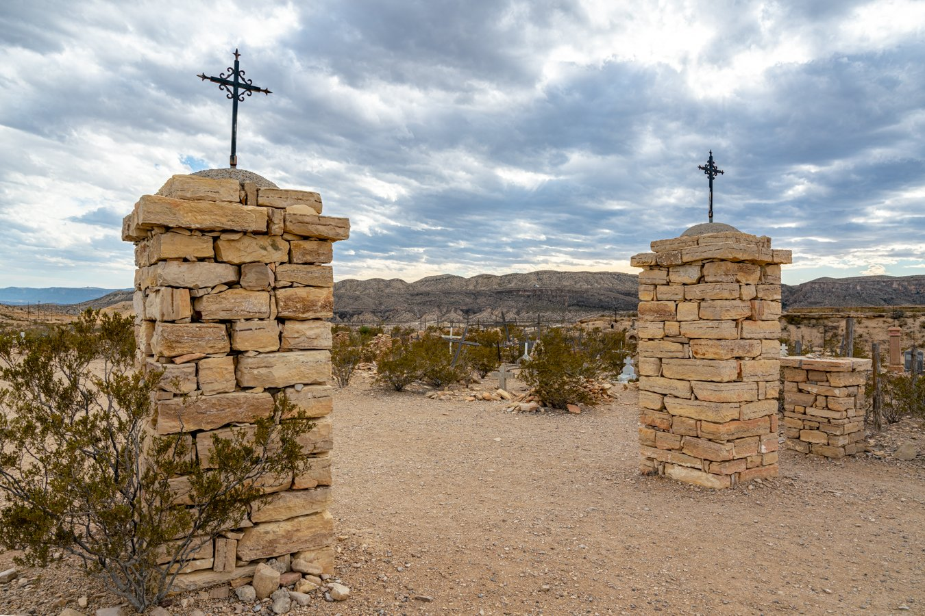 entrance to terlingua cemetery, one of the best things to do in terlingua ghost town