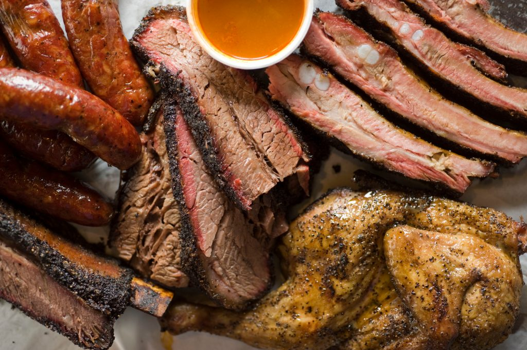 selection of best texas bbq smoked meats