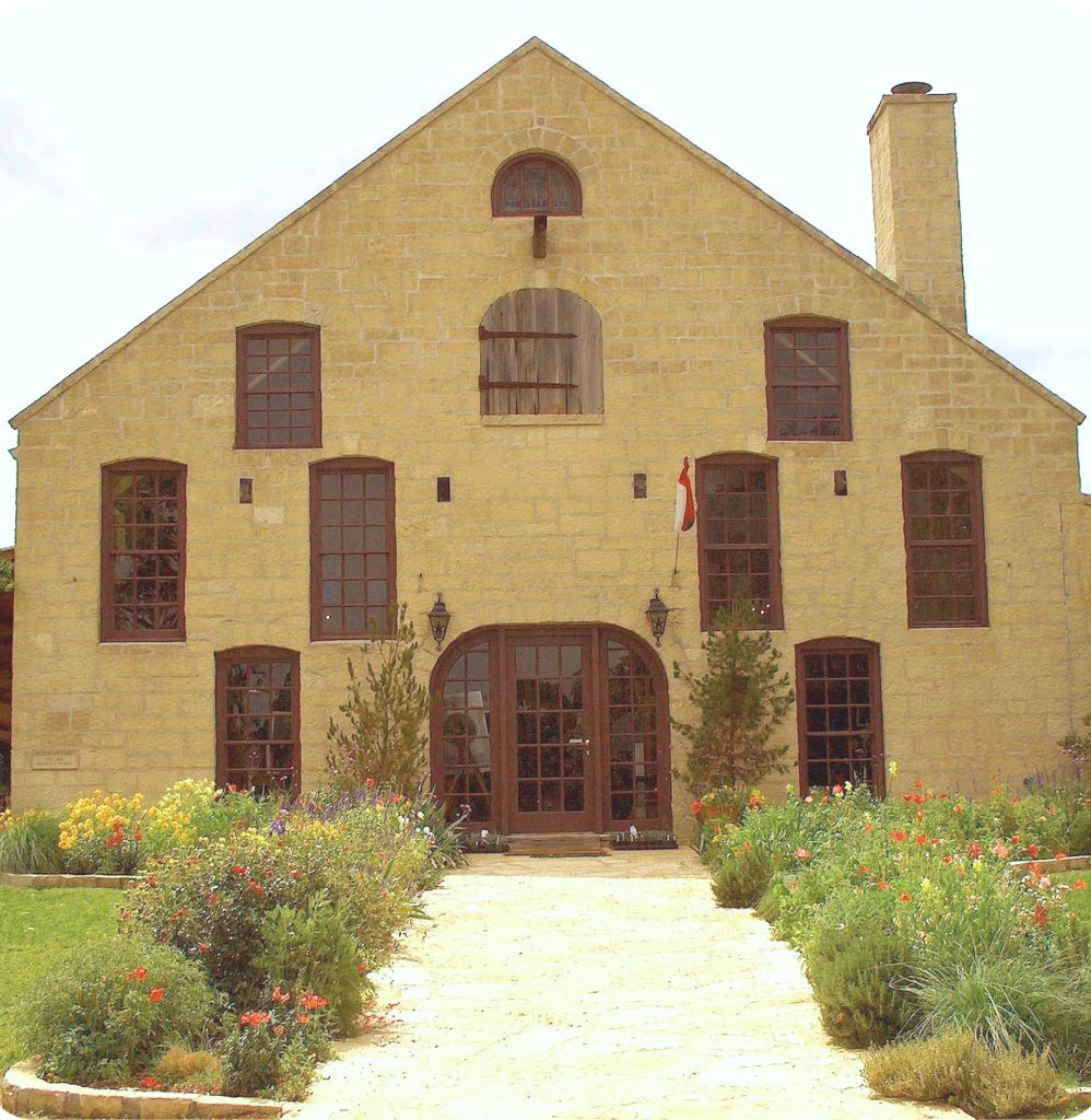 front facade of becker vineyards, one of the best wineries near fredericksburg texas