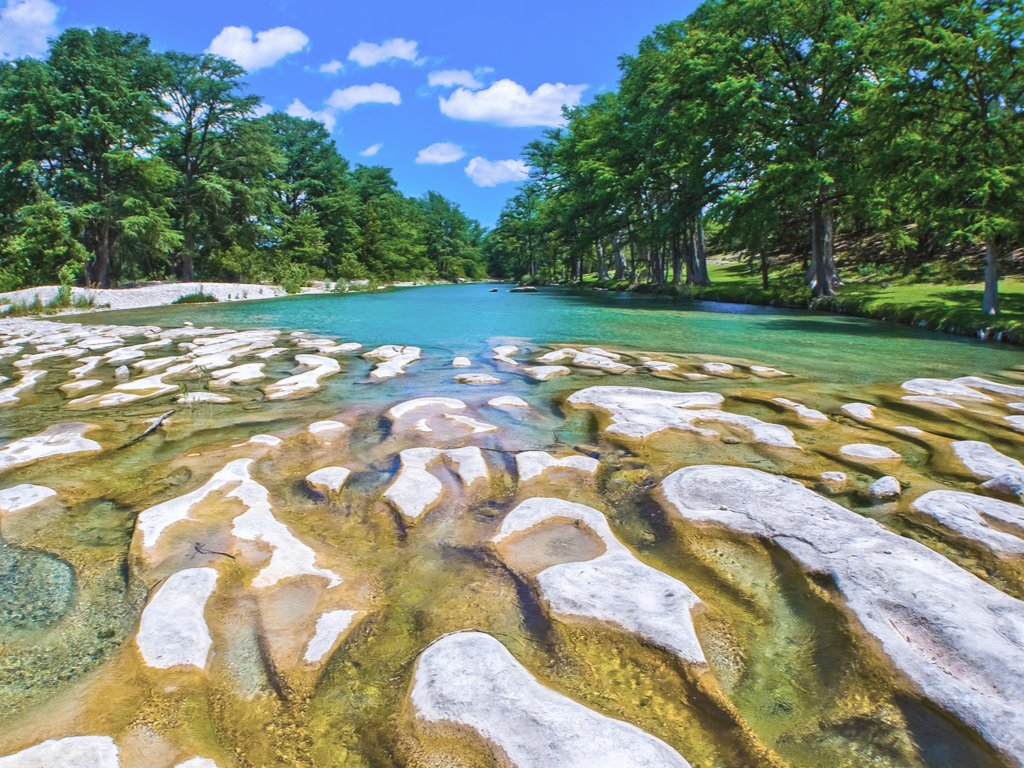 view of frio river in garner state park, one of the best places to visit in texas
