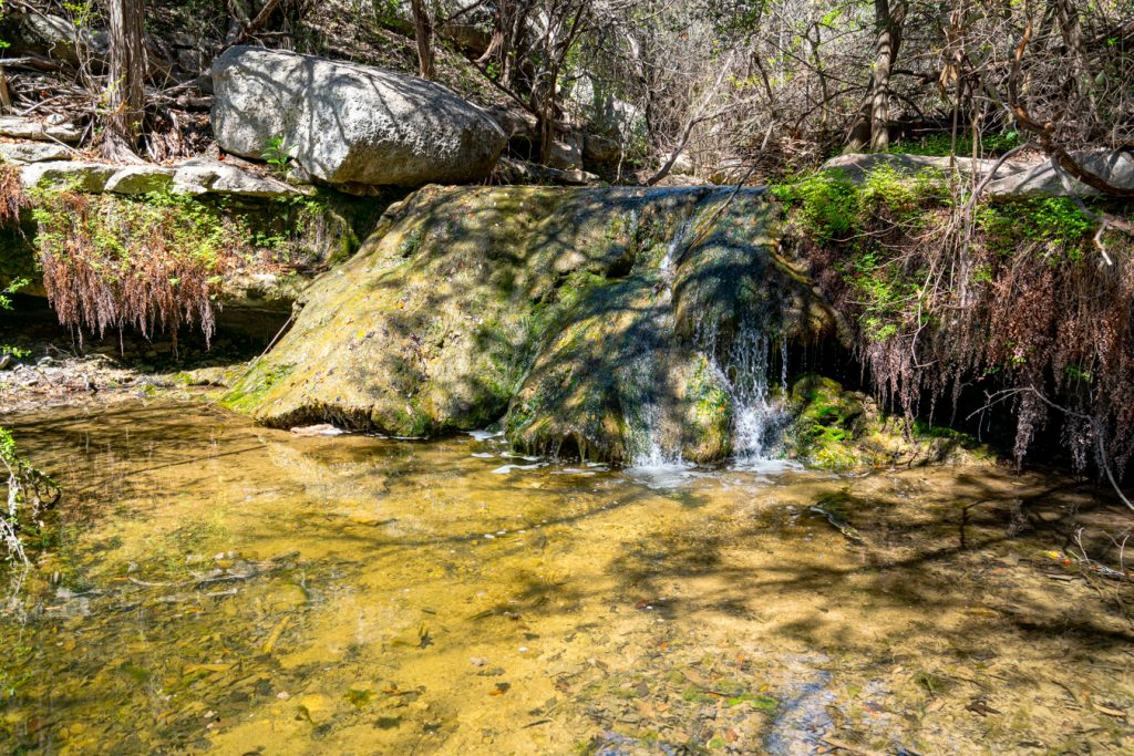 small waterfall along little fern trail