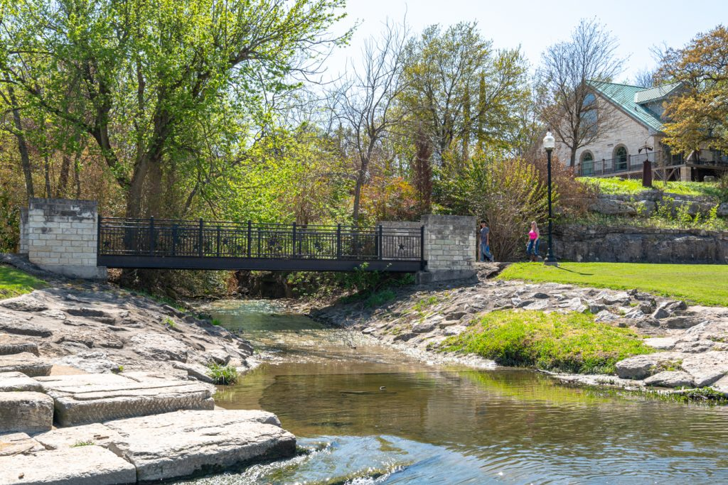 view of the belton hike and bike trail from nolan creek, one of the best things to do in belton tx