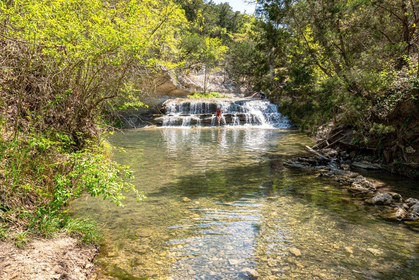 chalk rridge falls near belton in one of the seven regions of texas four