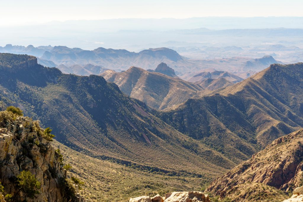 views from emory peak hiking trail in big bend national park