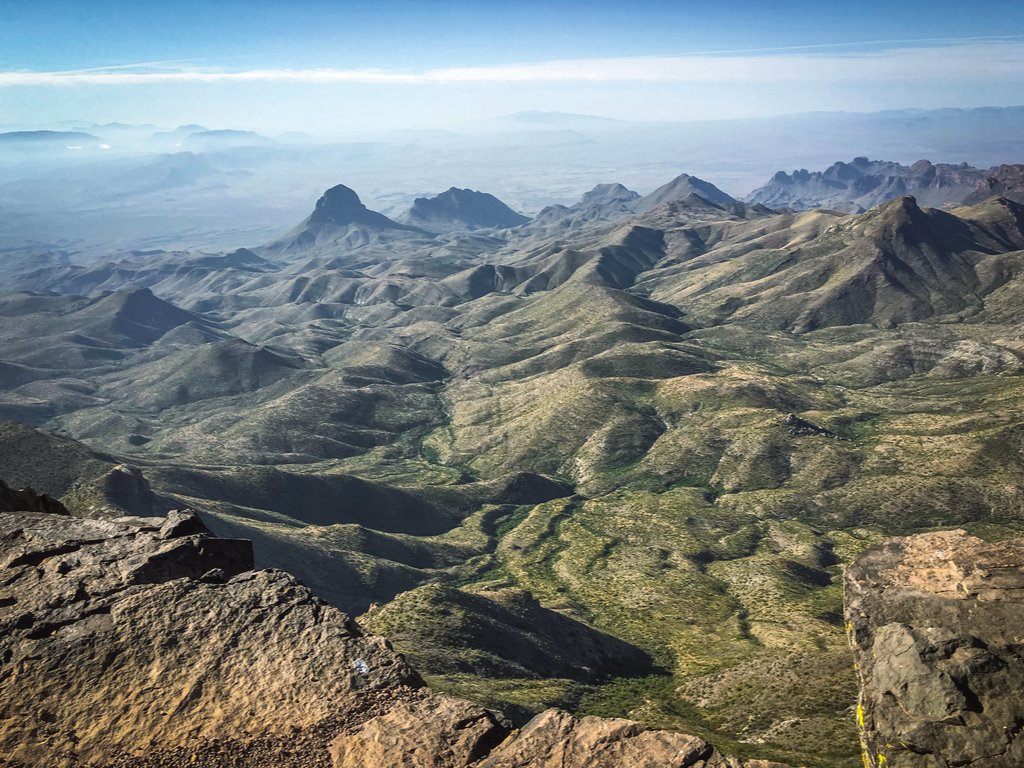 view of chisos mountains from the south rim, one of the best hikes in big bend national park