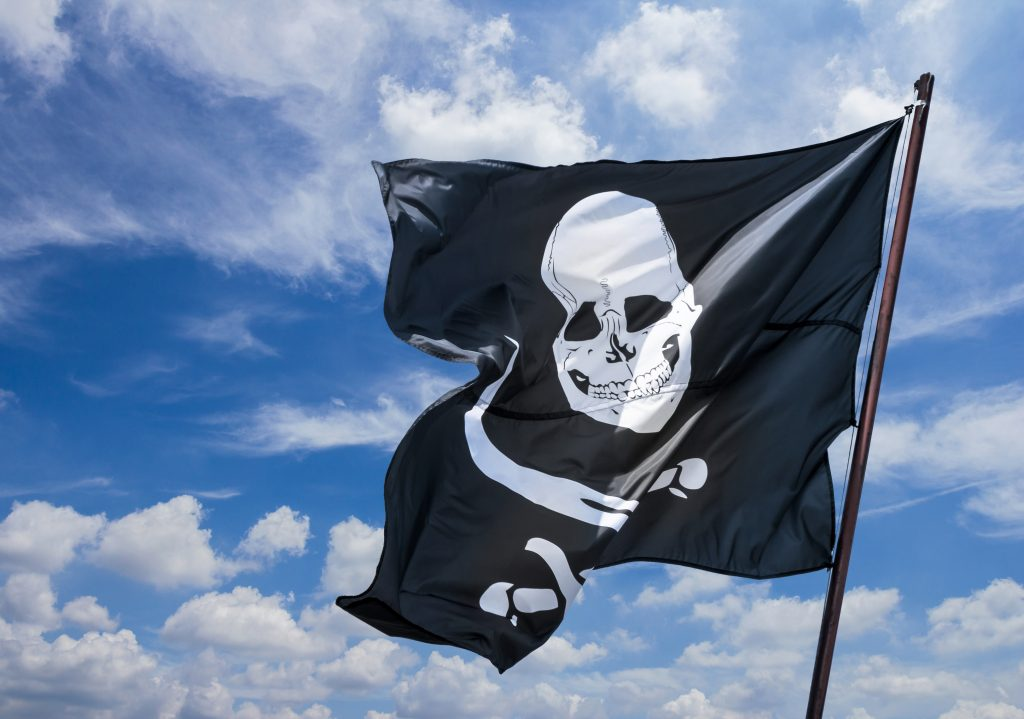 pirate flag waving, pirates landing is one of the best places to visit in port isabel tx