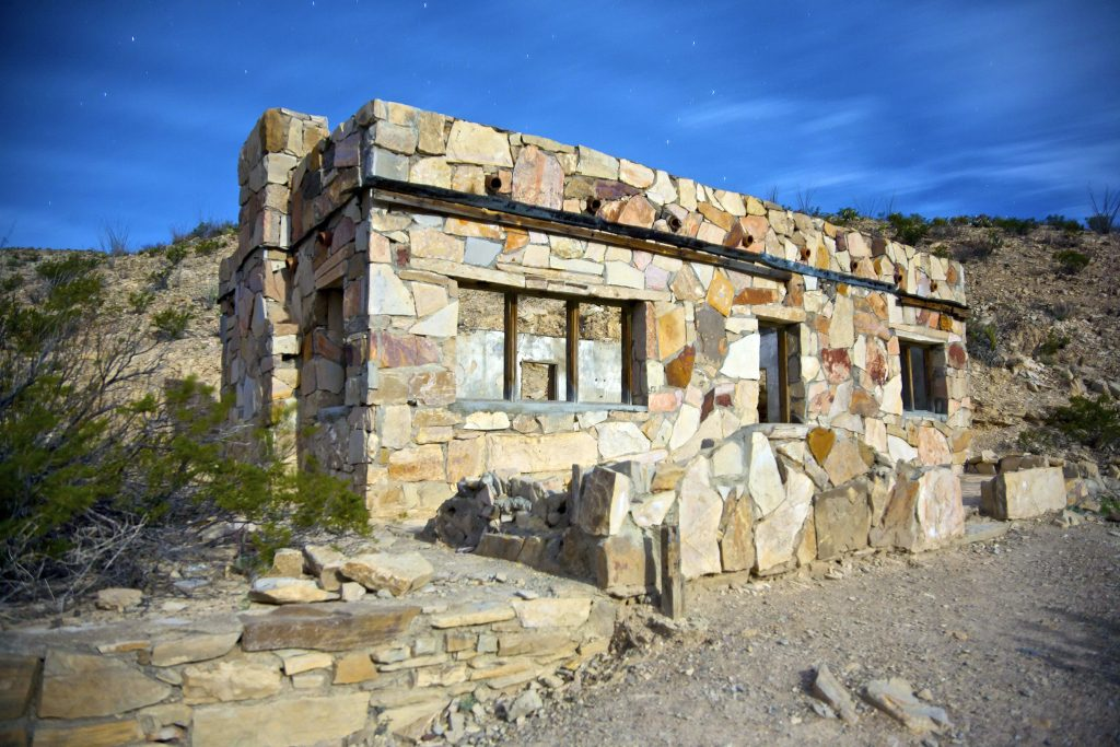abandoned stone building in hot springs historic district big bend