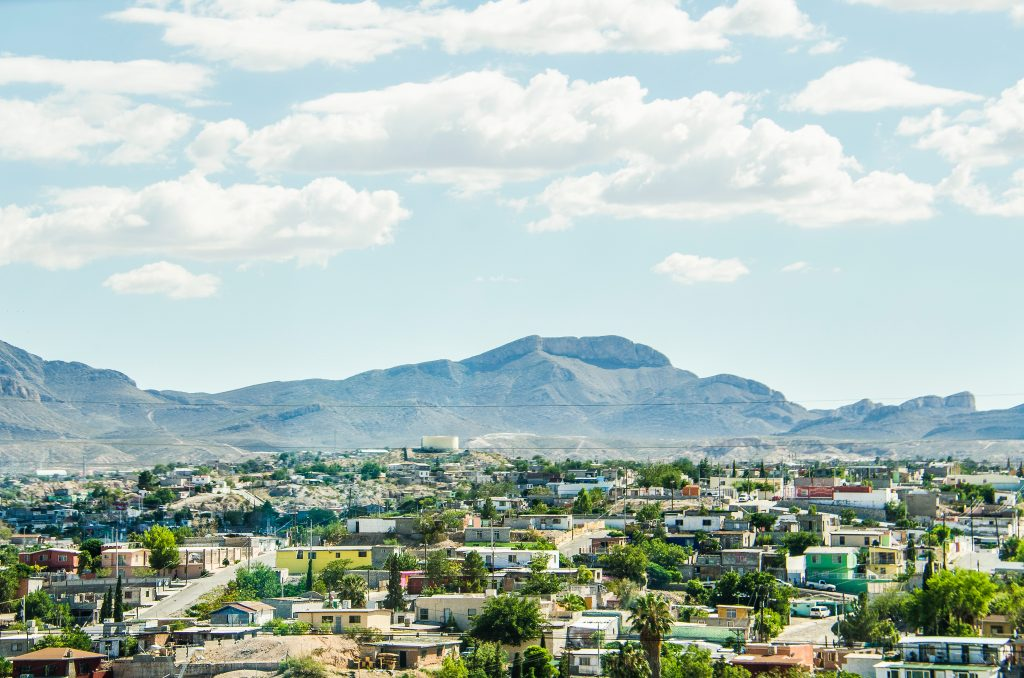 skyline of juarez mexico with mountains in the background, one of the most memorable el paso day trips