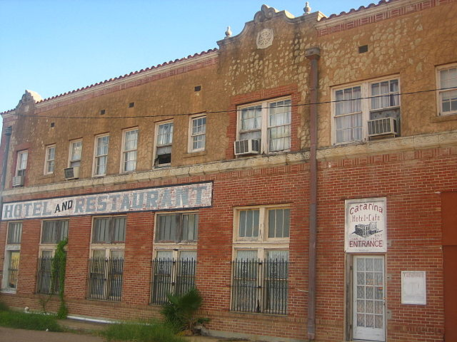 brick restaurant in abandoned texas town of catarina