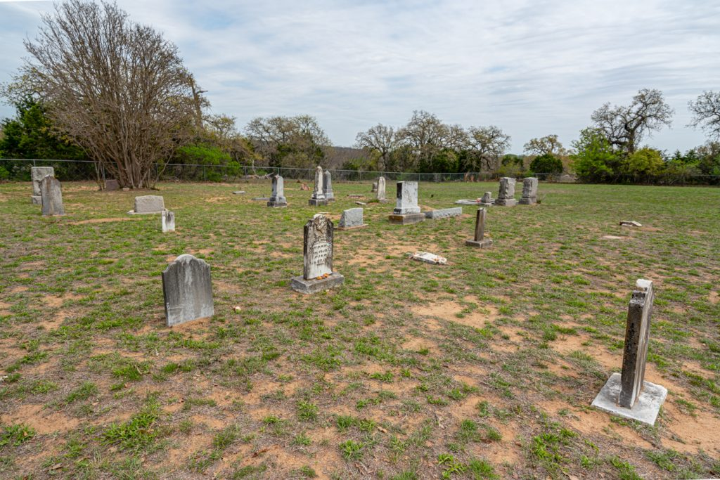 overview of baby head cemetery in llano tx