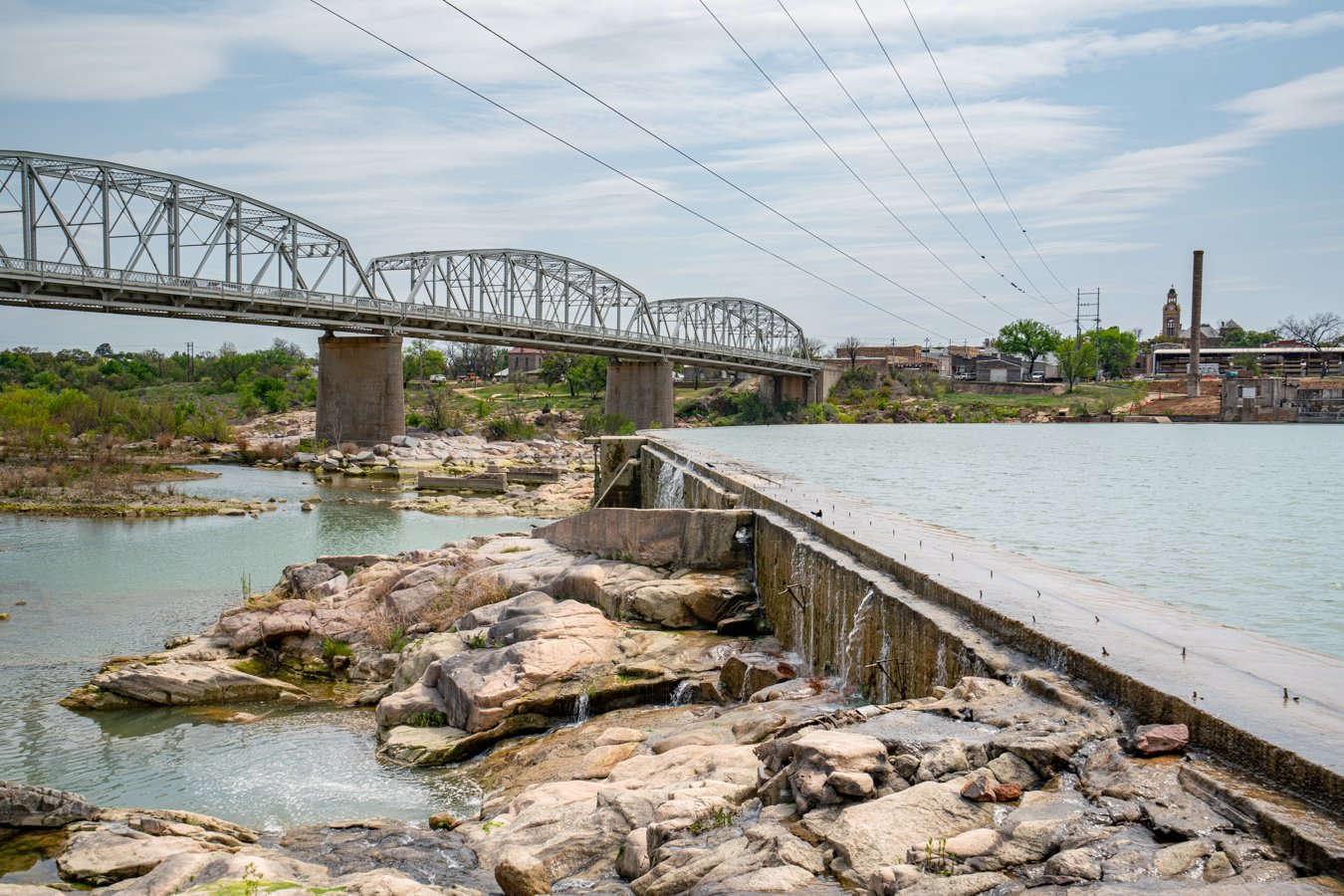 roys ink bridge spanning the llano river, one of the best things to do in llano texas