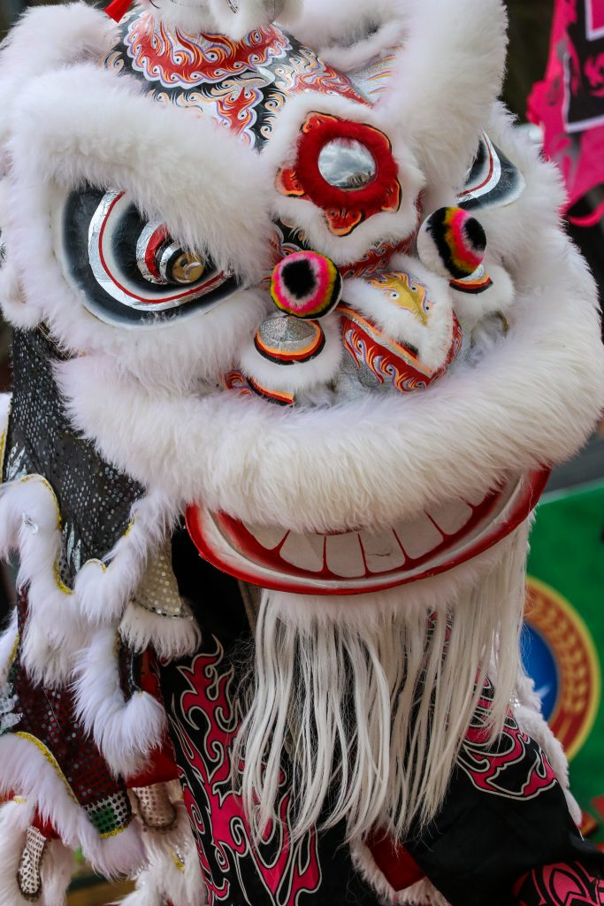 chinese lunar new year mask in houston texas