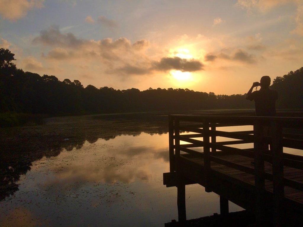 sunset over lake raven huntsville texas