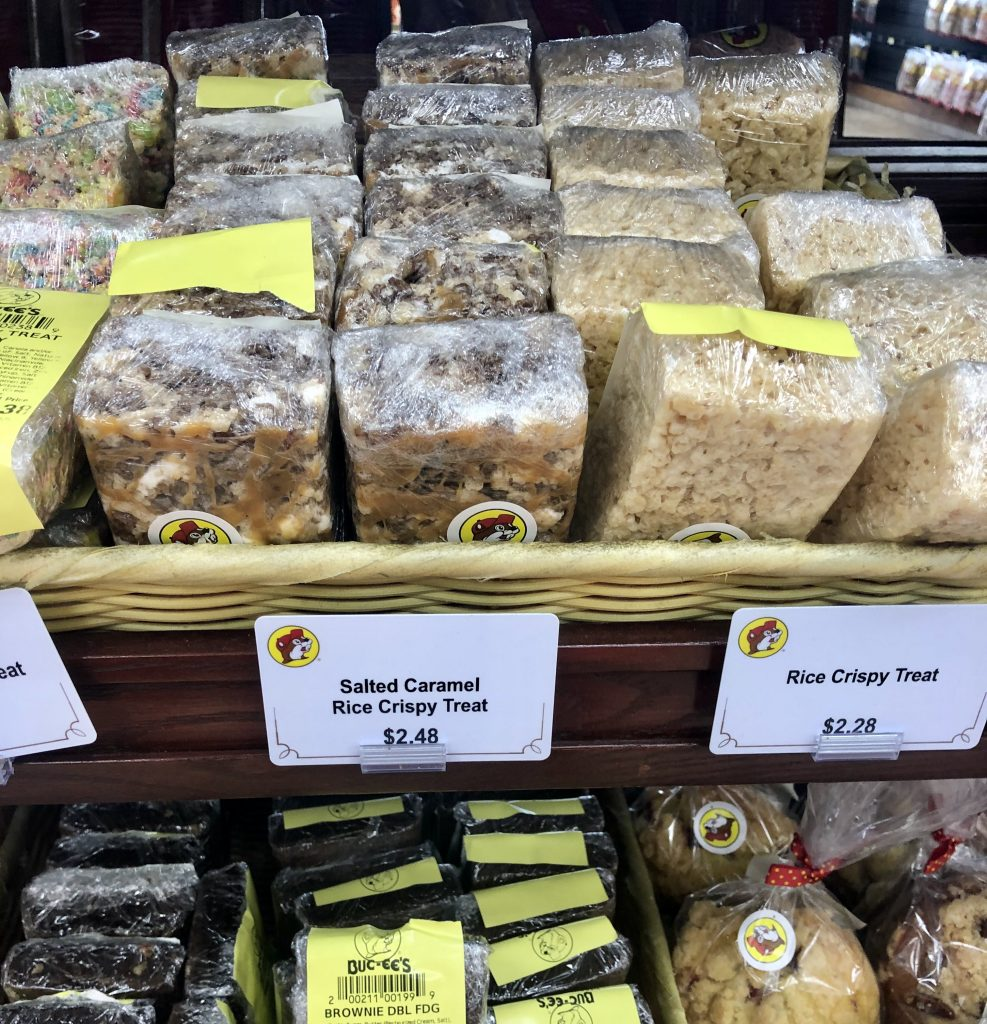 one of the best bucees snacks, rice krispy treats, for sale