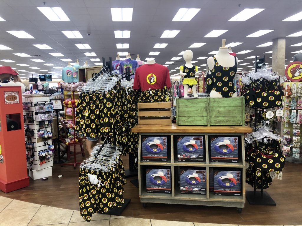 beaver themed buc ee's bathing suits for sale
