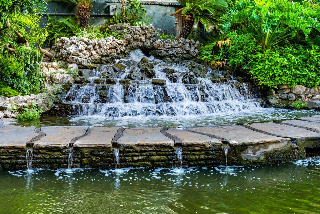 small waterfall san antonio texas riverwalk