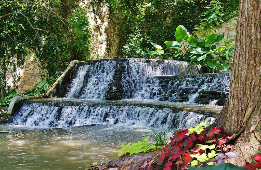 small waterfalls in san antonio texas riverwalk