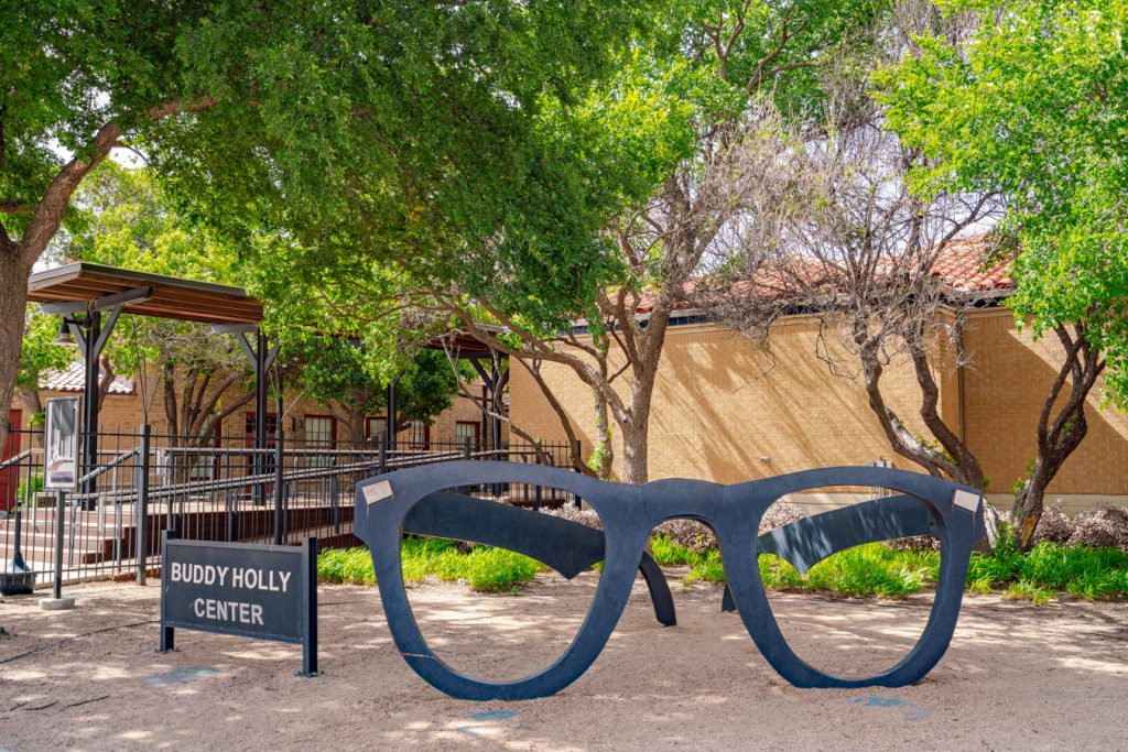 front facade of buddy holly center in downtown lubbock, one of the best day trips from amarillo tx