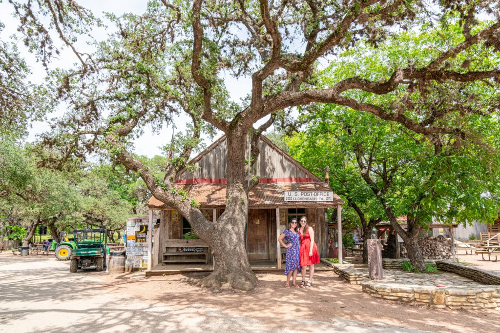 kate storm and allison green listening to texas country music songs about texas in luckenbach texas song