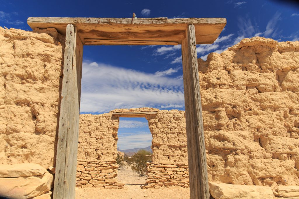 stone ruins of a building in texas terlingua ghost town