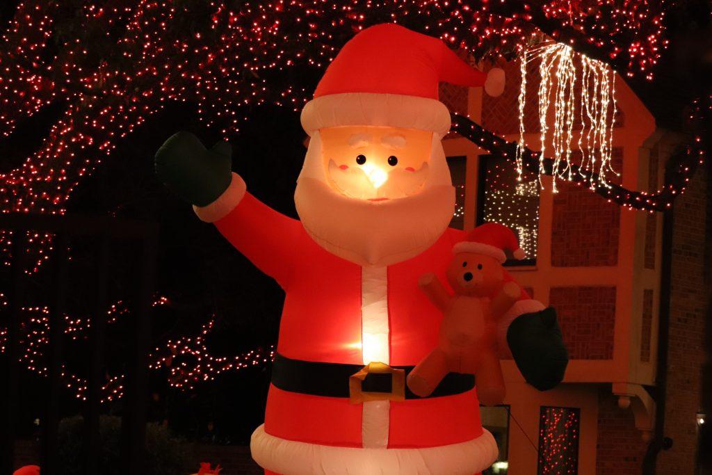 inflatable santa claus houston tx christmas events