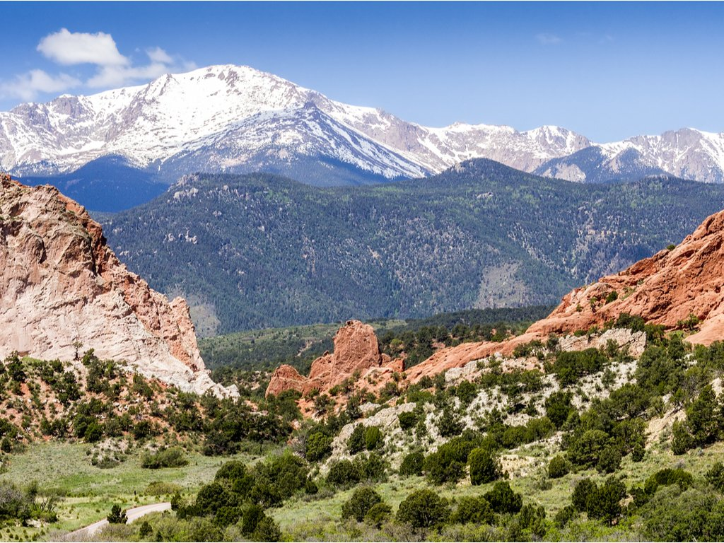 garden of the gods in colorado springs,one of the best road trips from amarillo tx