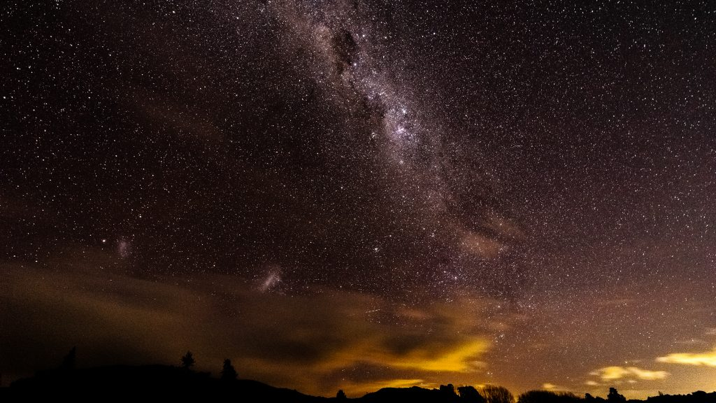 milky way as seen when stargazing, a popular thing to do at rv campgrounds near big bend national park