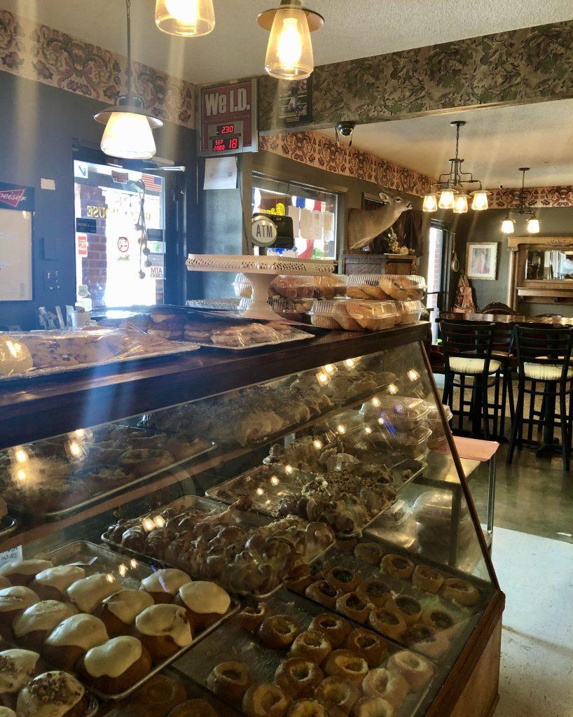 interior kolache case in gericks czech bakery west tx