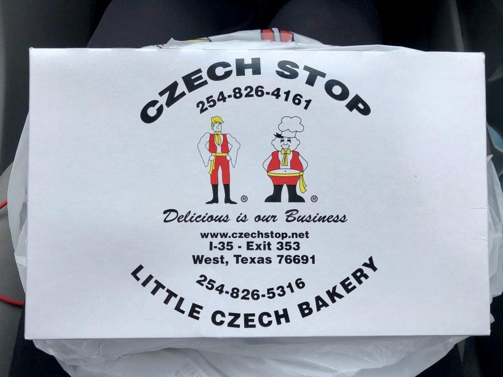 box of kolaches west texas czech stop