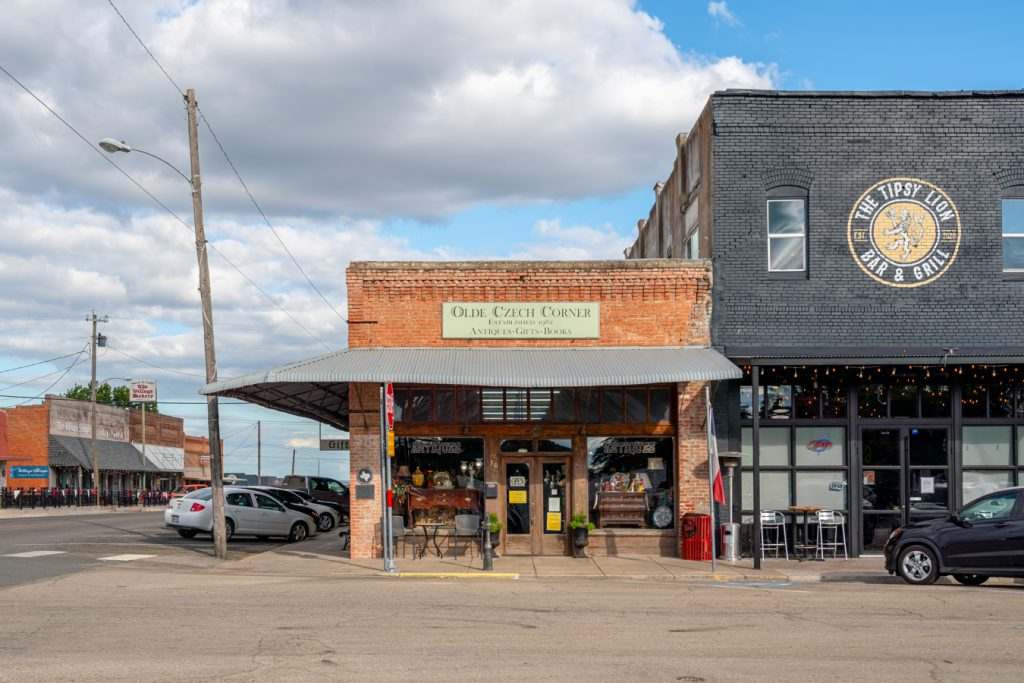 front facade of czech store in downtown west texas