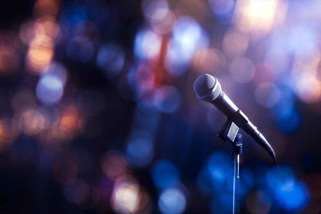 microphone at a variety show