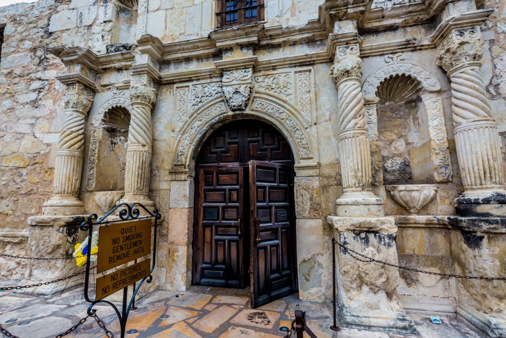 front doors of the alamo shrine, pre booking tickets is an essential tips for visiting the alamo texas